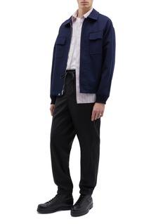 3.1 PHILLIP LIM 皱感oversize条纹衬衫
