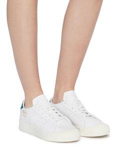 adidas Everyn绒面皮拼接真皮运动鞋