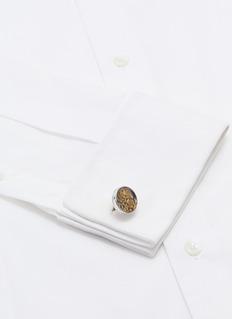 TATEOSSIAN 金属齿轮镀铑袖扣