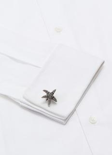 TATEOSSIAN 搪瓷海星造型氧化金属袖扣