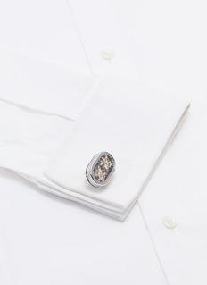 TATEOSSIAN 双重陀飞轮镀铑金属袖扣