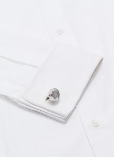 TATEOSSIAN 西瓜碧玺镀铑纯银袖扣
