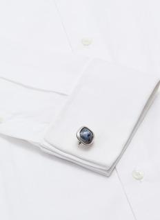 TATEOSSIAN 彼得石镀铑纯银袖扣