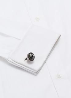 TATEOSSIAN 缟玛瑙及珍珠母贝星球纯银袖扣