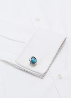 TATEOSSIAN 磷灰石镀铑纯银袖扣