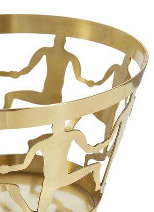细节 –点击放大 - GHIDINI 1961 - 中号舞蹈人像镂空黄铜碗-金色