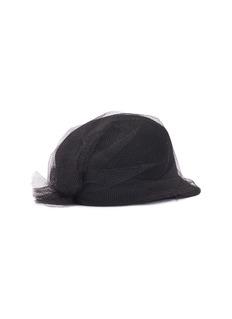 Sensi Studio Meghan网纱外层羊毛毡棒球帽