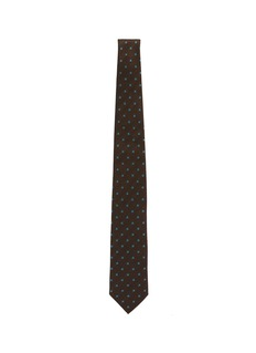 stefanobigi milano 花卉刺绣亚麻混丝领带