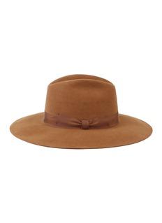 Mossant 蝴蝶结罗缎帽带毛毡帽