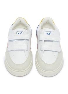 Veja V-12幼儿款V字印花魔术贴搭带真皮运动鞋