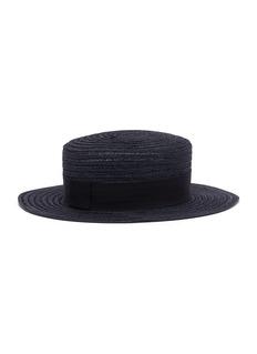MAISON MICHEL Kiki编织汉麻平顶帽