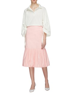 MING MA 褶裥立体鱼尾半身裙