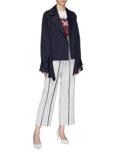 MING MA 扭结背面垂坠布饰纯棉西服夹克