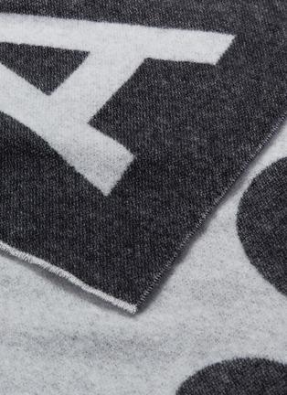细节 - 点击放大 - Acne Studios - logo混羊毛围巾