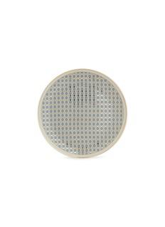 André Fu Living Vintage Modern几何图案陶瓷餐盘-灰蓝色及金色