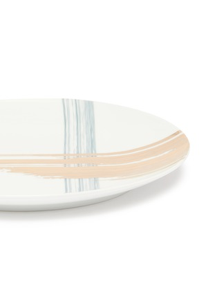细节 –点击放大 - ANDRÉ FU LIVING - Brush大号笔触印花椭圆形陶瓷盘