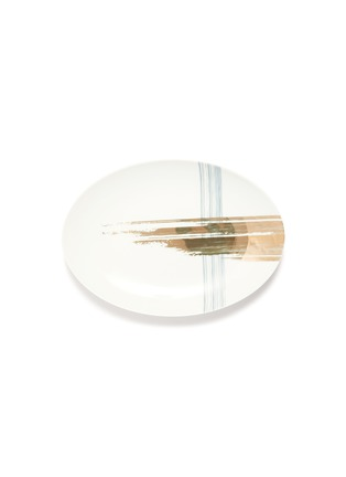 首图 –点击放大 - ANDRÉ FU LIVING - Brush大号笔触印花椭圆形陶瓷盘