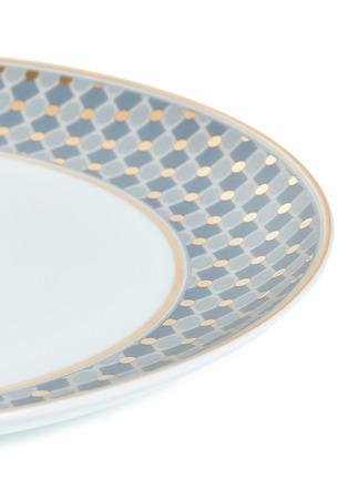 细节 –点击放大 - André Fu Living - Vintage Modern几何图案围边陶瓷餐盘-灰蓝色及金色