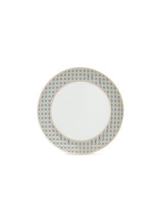 - André Fu Living - Vintage Modern几何图案围边陶瓷餐盘-灰蓝色及金色