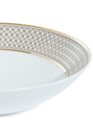 细节 –点击放大 - ANDRÉ FU LIVING - Vintage Modern几何图案围边陶瓷汤盘-米色及金色