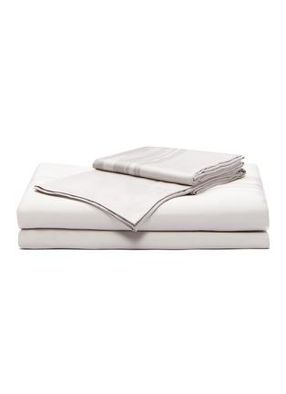 首图 –点击放大 - André Fu Living - Artisan Artistry特大双人床笔触图案棉缎四件套-灰色及米色