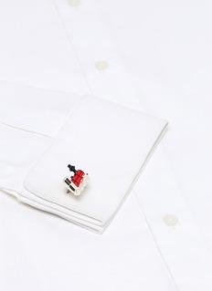 DEAKIN & FRANCIS 搪瓷火车造型纯银袖扣