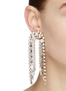 Rosantica Gelo人造珍珠仿水晶流苏耳环