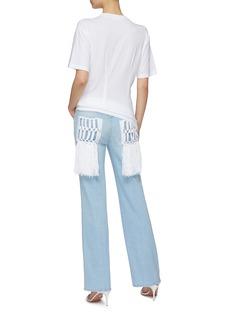 Sonia Rykiel Saint-Germain针织流苏后袋水洗牛仔裤