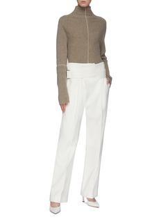 Victoria Beckham 腰带搭叠褶裥长裤