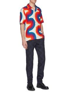 Dries Van Noten x Verner Panton Carlton拼色波浪纹亚麻衬衫