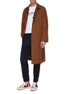 Dries Van Noten Ryd两面穿平驳领格纹大衣