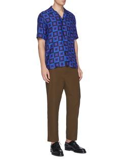 Dries Van Noten x Verner Panton Carlton拼色几何方格衬衫