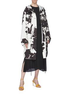 Dries Van Noten Vidala抽象花卉图案纯棉派克大衣