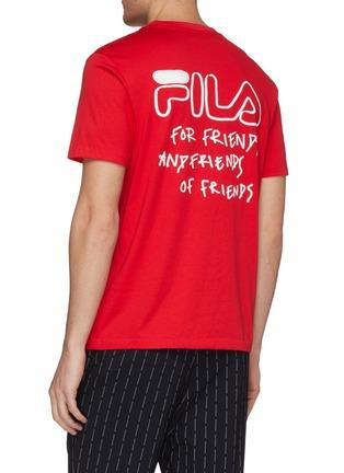 背面 - 点击放大 - FILA x 3.1 Phillip Lim - Friends标语及logo涂鸦纯棉T恤