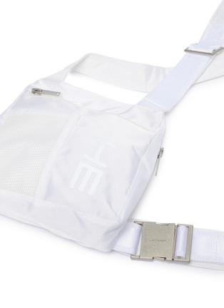 细节 - 点击放大 - HELIOT EMIL - 品牌名称网眼布拼接搭带胸包