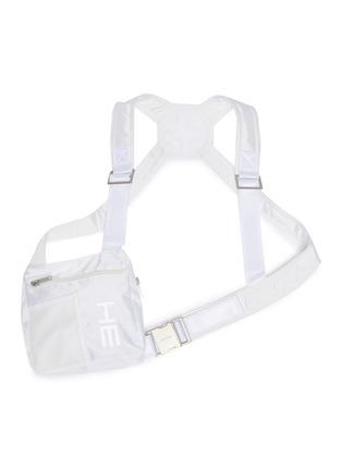 首图 - 点击放大 - HELIOT EMIL - 品牌名称网眼布拼接搭带胸包
