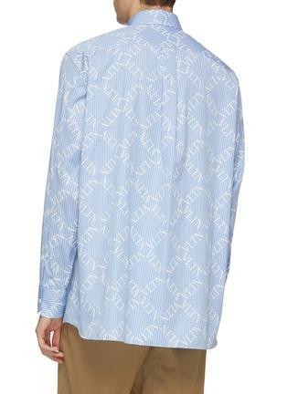 背面 - 点击放大 - Valentino - VLTN格纹条纹纯棉衬衫