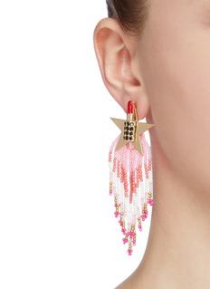 VENNA 可拆式珠饰吊坠唇膏五角星耳环