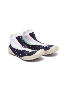 Collégien 幼儿款流星图案针织袜式运动鞋