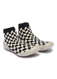 Collégien 幼儿款几何图案拼色针织袜式运动鞋