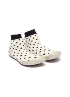 Collégien 幼儿款波点图案拼色针织袜式运动鞋