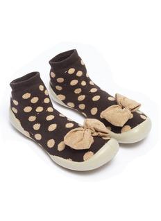Collégien 幼儿款波点蝴蝶结针织袜式运动鞋