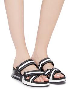 ASH Logan反光条纹搭带运动凉鞋