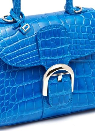 - Delvaux - Brillant Mini短吻鳄鱼漆皮手提包