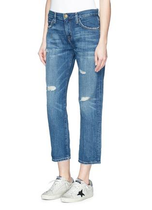 正面 -点击放大 - CURRENT/ELLIOTT - THE BOYFRIEND水洗磨破牛仔裤