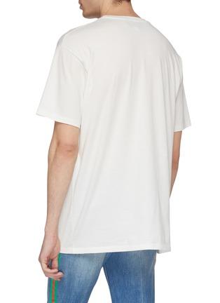 背面 - 点击放大 - GUCCI - 双G标志钢琴印花oversize T恤