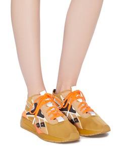 Victoria Beckham x Reebok Bolton拼色皮革拼贴针织运动鞋