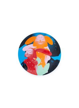 首图 –点击放大 - X+Q - 《我看到了幸福》骨瓷圆盘-蓝橙