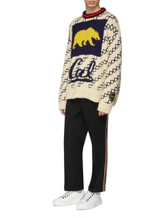 Calvin Klein 205W39NYC x UC Berkeley加州灰熊几何图案混羊毛针织衫