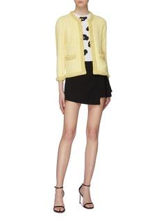 alice + olivia Romanda仿包裹式缎面短裤